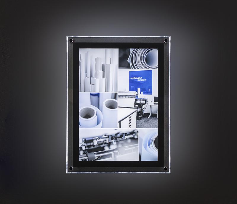 wollmann medien ulm led acrylglasrahmen